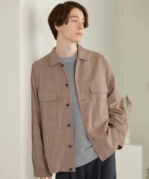 TRストレッチ スーツ地 オーバーサイズ CPO シャツ ジャケット/ドレープCPOシャツJKTベージュ系その他2
