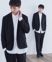 Loungewear tokyo(ラウンジウェアトウキョウ)のジョーゼットストレッチ シングル テーラード 2Bジャケット×トラウザーズ 【セットアップ】(セットアップ)