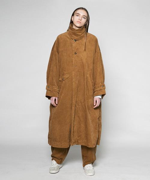 【VOAAOV】 washing corduroy long coat