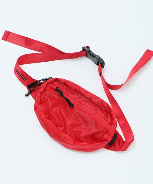 HOLIDAY(ホリデイ)の「HOLIDAY PACKABLE MINI WAIST BAG パッカブルホリデイミニウエストバッグ(ボディバッグ/ウエストポーチ)」|レッド