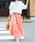 Fashion Letter(ファッションレター)の「コットンティアードスカート(スカート)」|ピンクベージュ