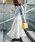 Fashion Letter(ファッションレター)の「コットンティアードスカート(スカート)」|オフホワイト