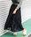 Fashion Letter(ファッションレター)の「コットンティアードスカート(スカート)」|ブラック