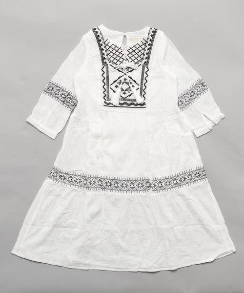 HAYDEN GIRL ヘイデンガール 刺繍入りマキシチュニックワンピース G5763