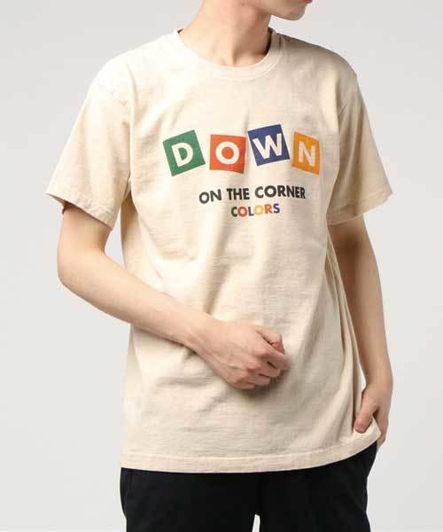 DOWN ON THE CORNER(ダウンオンザコーナー)の「S/S HEMP COTTON TEE'COLORS'(Tシャツ/カットソー)」|ナチュラル