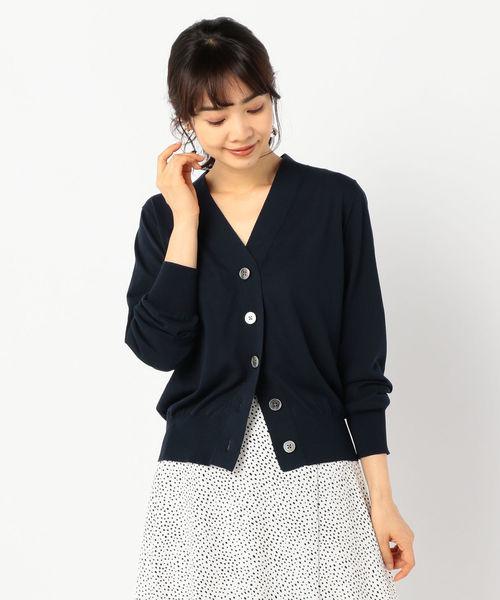 今季ブランド 【セール】ハイツイストコットンVネックカーディガン(カーディガン) NOLLEY