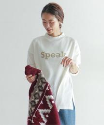 NOMBRE IMPAIR(ノンブルアンペール)のSpeakプリント ハイネックロングカットソー(Tシャツ/カットソー)