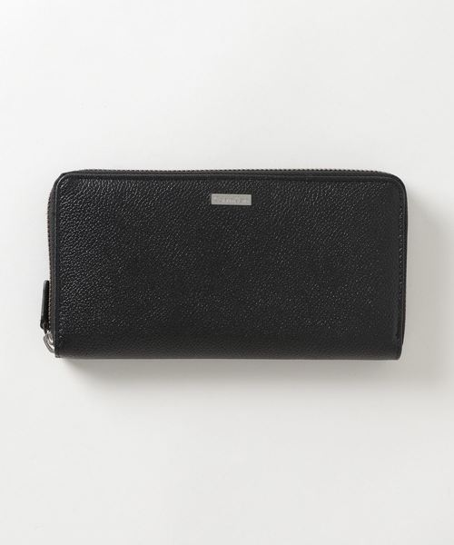 Calvin Klein(カルバン・クライン)の「【Calvin Klein/カルバンクライン】レザーラウンドジップロングウォレット/長財布(財布)」|ブラック
