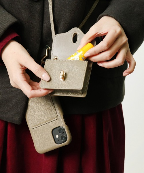 ∴【 Hashibami / ハシバミ 】 ミニポーチ付き 11/XR iphoneケース Ha-2004-715