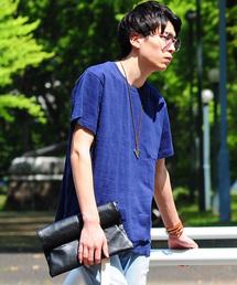 SPADE(スペード)のジャガードボーダー 天竺Tシャツ(Tシャツ/カットソー)