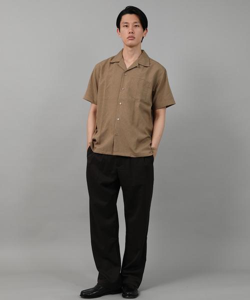 ポリトロオープンカラーシャツ
