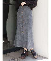MURUA(ムルーア)のチェックマーメイドスカート(スカート)