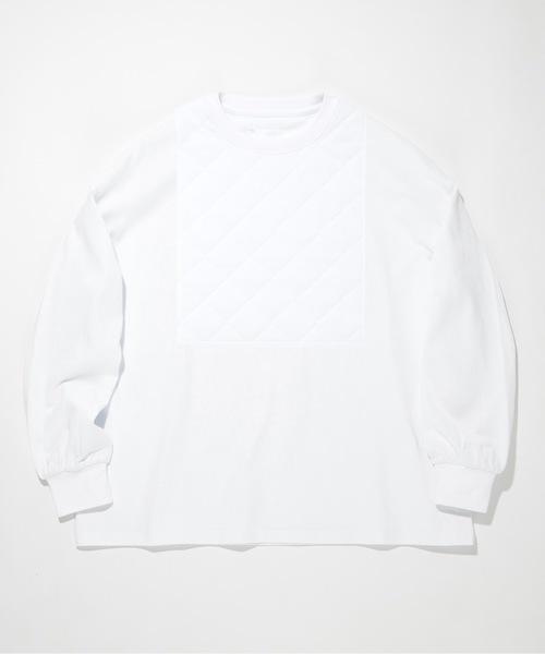 SUPERTHANKS(スーパーサンクス)の「キルトフロント ビッグロング Tシャツ(ユニセックス)(Tシャツ/カットソー)」|ホワイト