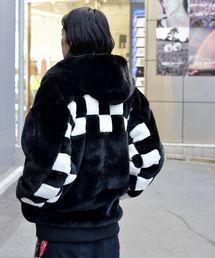 DANKE SCHON(ダンケシェーン)のDankeSchon/ダンケシェーン/Checker Fur Blouson(ブルゾン)