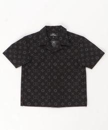 MONOGRAM柄 オープンカラーシャツ【S/M】ブラック系その他