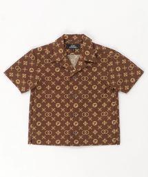 MONOGRAM柄 オープンカラーシャツ【S/M】ブラウン系その他