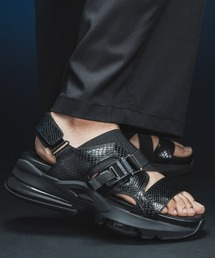 high clear sole python leather sandal/ハイクリアソールパイソンレザーサンダル