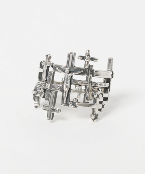 競売 flake Cross Ring R01 YG, 新庄村 ad1656d8