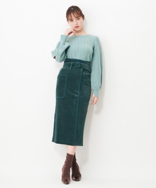 ワイドコールパイピングスカート