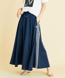 <adidas>∴スリーストライプ ロングスカート