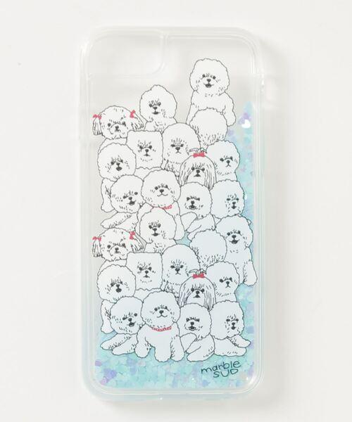*【 marble sud / マーブルシュッド 】Fluffy Dog グリッターiphoneケース 09AF999145・・