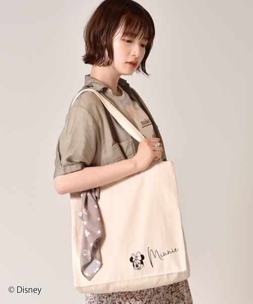 【セットアイテム】<MINNIE MOUSE>スカーフsetトートバッグ