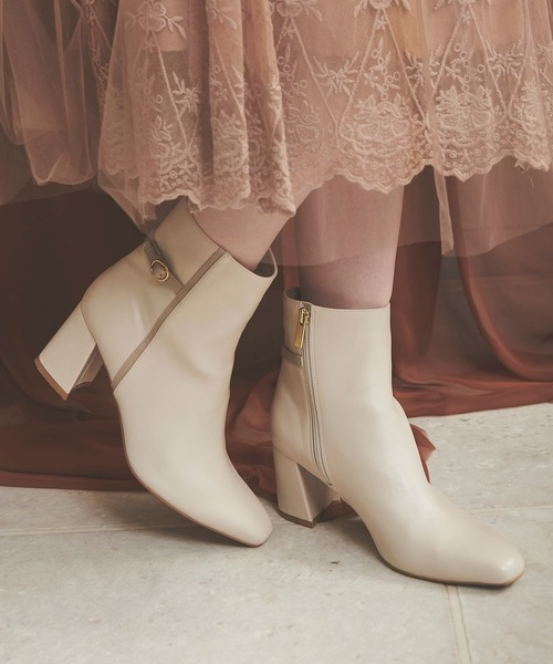 Noela(ノエラ)の「スクエアトゥブーツ(ブーツ)」|詳細画像