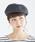 haco!(ハコ)の「むら染めベレー帽(ハンチング/ベレー帽)」 チャコールグレー