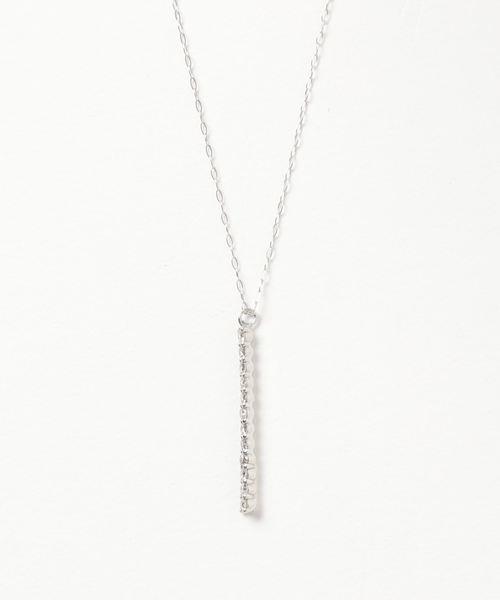 con affetto(original)(コン アフェット)の「Pt900/850 ダイヤデザインネックレス(ネックレス)」|プラチナム