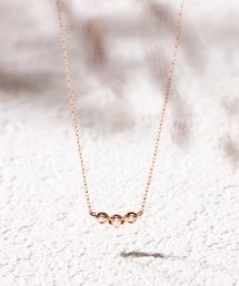 BLOOM(ブルーム)の【BLOOM/ブルーム】K10 ピンクゴールド ダイヤモンド ネックレス(ネックレス)