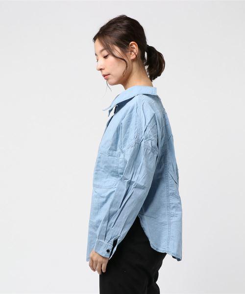 【Jewelobe/ ジュエローブ】 2way デニムシャツ