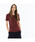 LACOSTE(ラコステ)の「コットンジャージークルーネックTシャツ(半袖)(Tシャツ/カットソー)」|バーガンディー