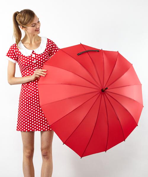 Fort Umbrella(フォートアンブレラ)の「ハート傘(長傘)」 レッド