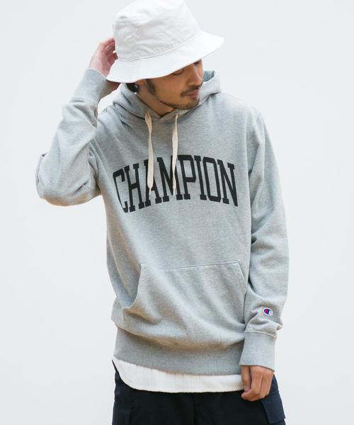 【WEB限定】[チャンピオン]SC★★ Champion ロゴ スウェット フーディー /パーカー