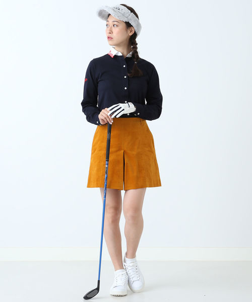 BEAMS GOLF ORANGE LABEL / 襟ロゴ シャツ