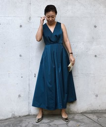 AMERI(アメリヴィンテージ)のLADY TUCK FLARE DRESS(ワンピース)