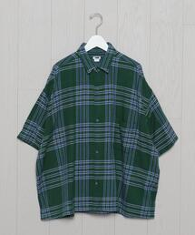 <H>CHECK WIDER SHIRT/シャツ