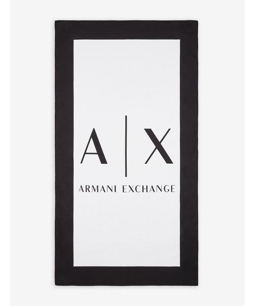 【A|X アルマーニ エクスチェンジ】A|Xロゴ リサイクルポリエステル ビーチタオル