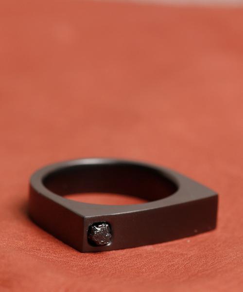 GILD / ギルド / Frosted coat flat top rough diamond ring フロスティド コート フラット トップ ラフ ダイアモンド リング / G162-RI05