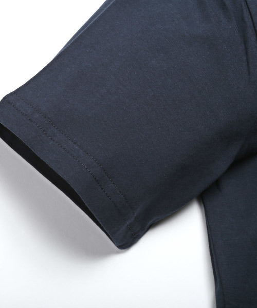 LOS ANGELES ボタニカル柄ロゴプリント半袖Tシャツ