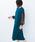 haco!(ハコ)の「華やかシーンに浮かず埋もれず ドットチュールの透け袖がかわいい結婚式ワンピース(ワンピース)」|グリーン