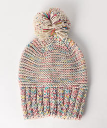 <HAT ATTACK>TWEED SLOUCHY ニットキャップ ◆