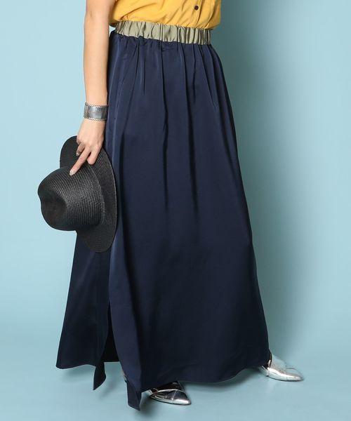 AMERICAN RAG CIE Satin MAXI Skirt/アメリカンラグシー サテンマキシスカート