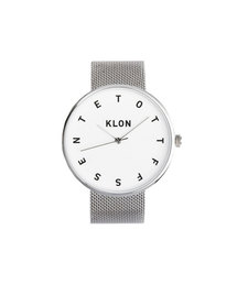 KLON(クローン)のKLON ALPHABET TIME -SILVER MESH- 40mm(腕時計)