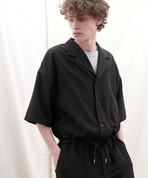 ドレープファブリックオーバーサイズジャンプスーツ【EMMA CLOTHES/エマクローズ】2021SSブラック