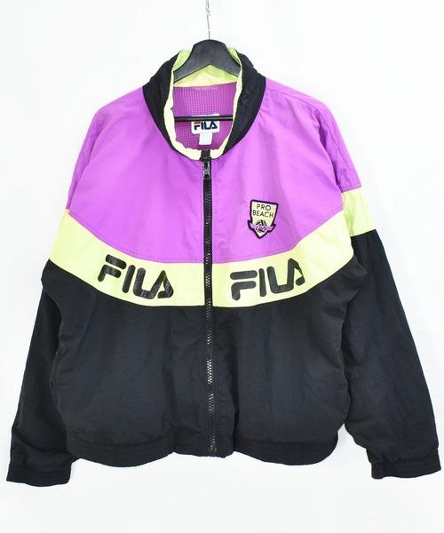 【ヴィンテージ古着】90s FILA フィラ USA製 ナイロンジャケット