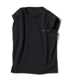 ショルダーパッドTシャツブラック