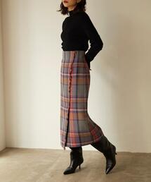 <EMMEL REFINES(エメル リファインズ)>EM BALLI チェック スカート
