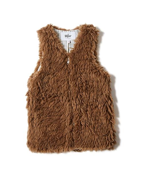 史上最も激安 【セール Vest】so far Fur Fur Vest/ ソーファー ソーファー ファーベスト(ベスト) sofar(ソーファー)のファッション通販, HALLSHOT ホールショット:826a872b --- toutous-surfeurs.fr