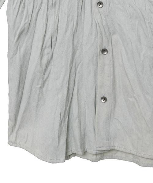 ms3724-シワ加工デニムショートカラーSH シャツ